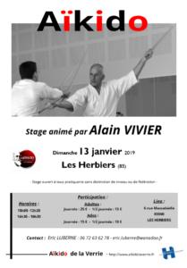 Stage Alain Vivier aux Herbiers @ Dojo des Herbiers  | Les Herbiers | Pays de la Loire | France