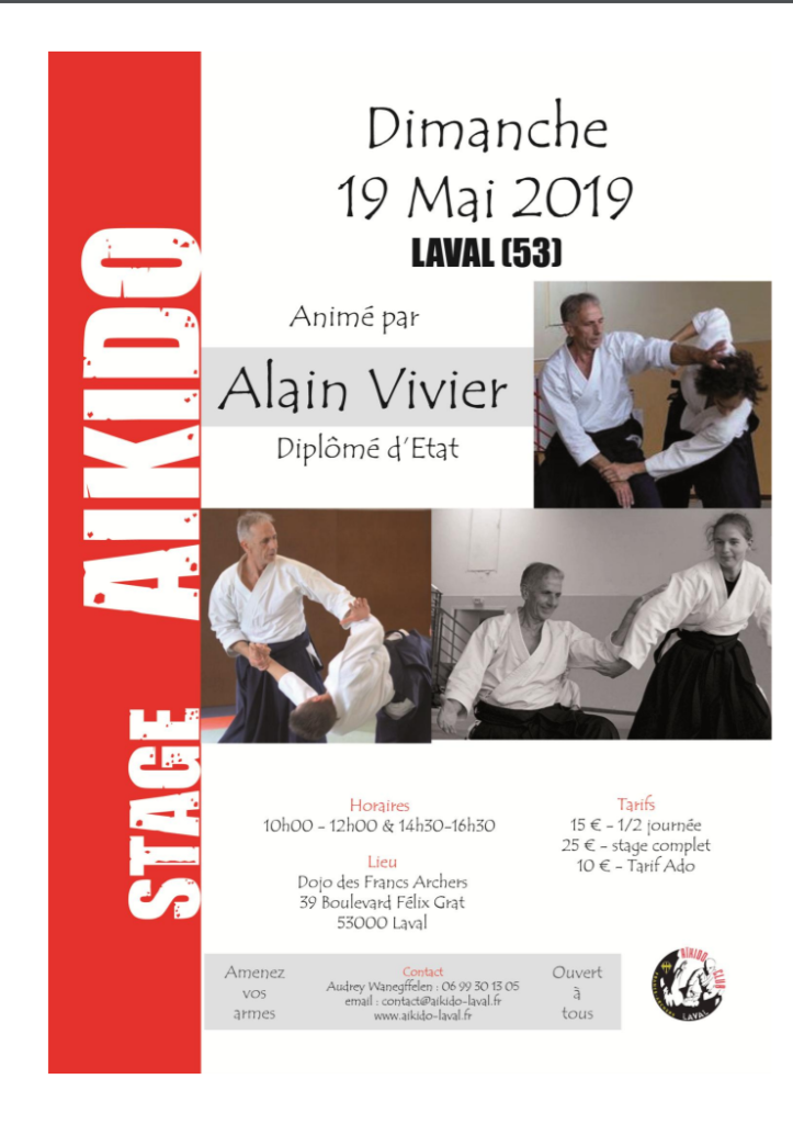 Stage Alain Vivier à Laval