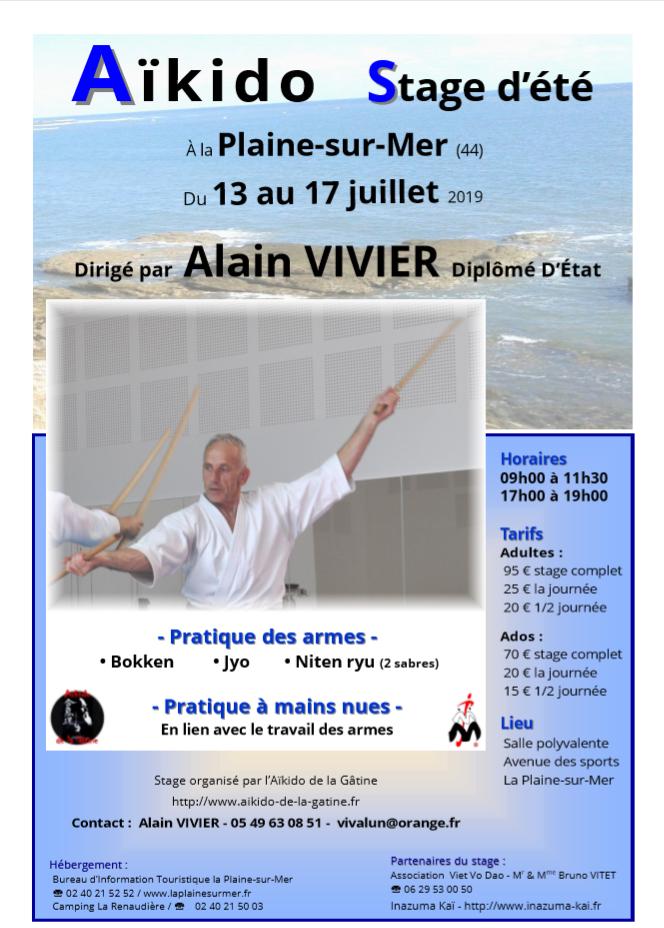 Stage d'été Alain Vivier @ La Plaine sur mer - Salle polyvalente | La Plaine-sur-Mer | Pays de la Loire | France